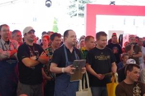Wręczeni nagród wkategorii piw rzemieślniczych- Birofilia 2011