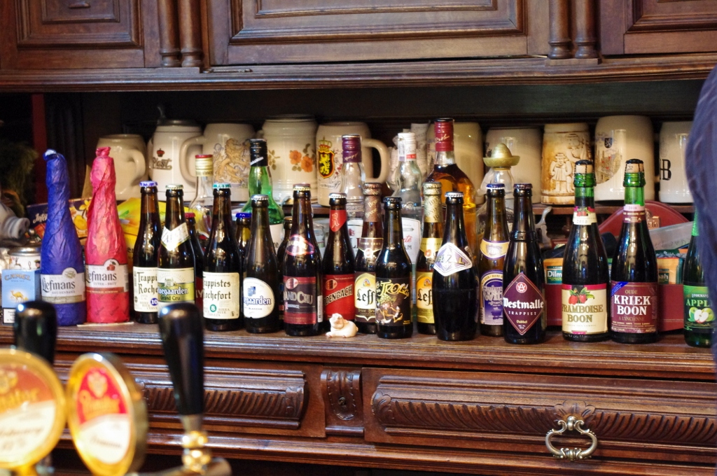 Wybór belgisjskich piw wpubie Palermo