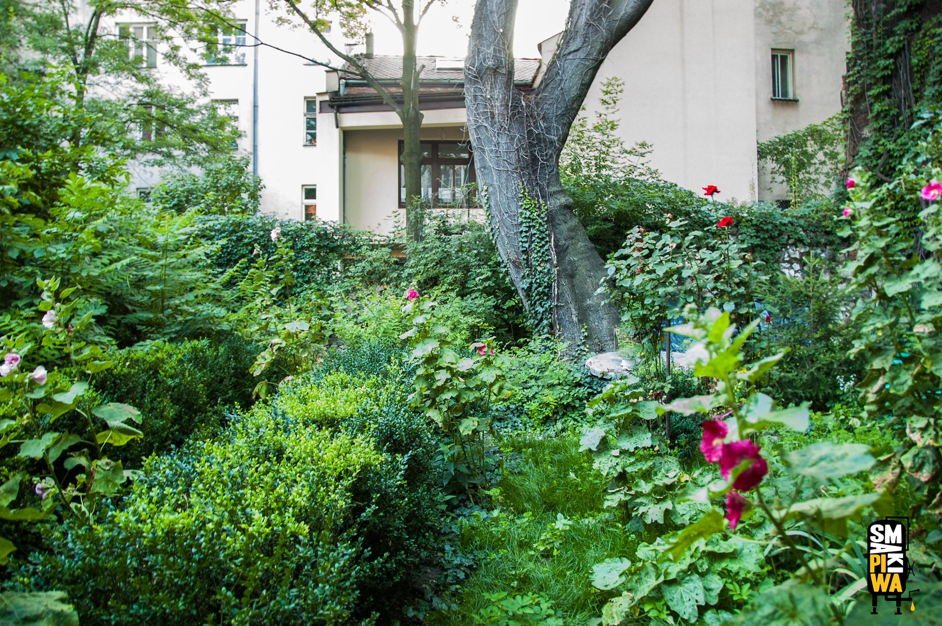 Przepiękny ogród, będzie świetnym miejscem nadegustacje piwa.