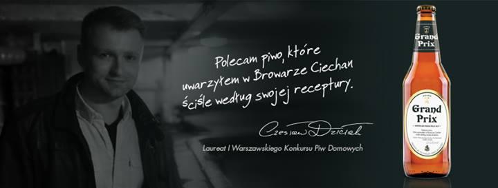 Baner promujący Ciechana Grand Prix zCzesławem Dziełakiem