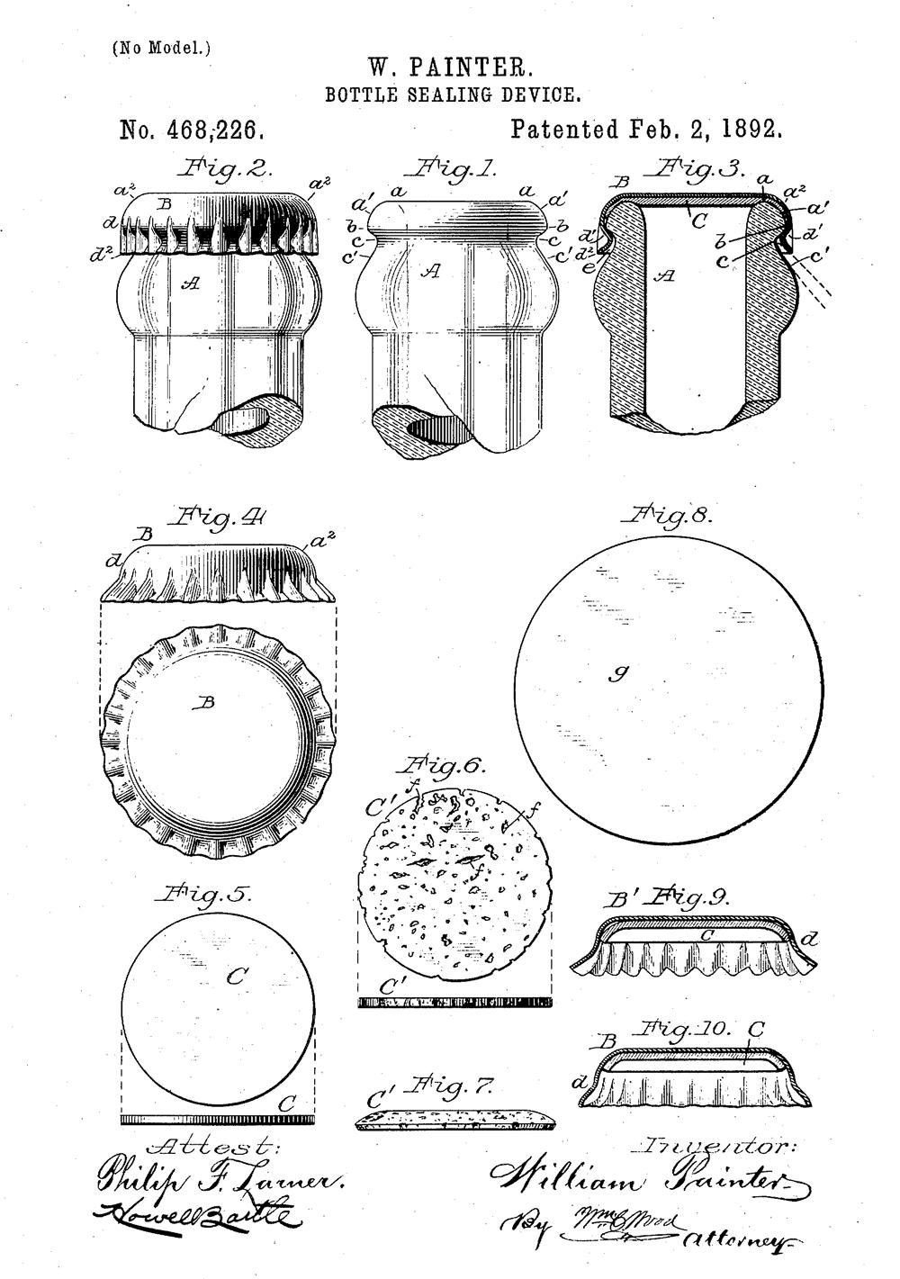 Ilustracja patentu Wiliama Paintera nauszczelkę dokapsla