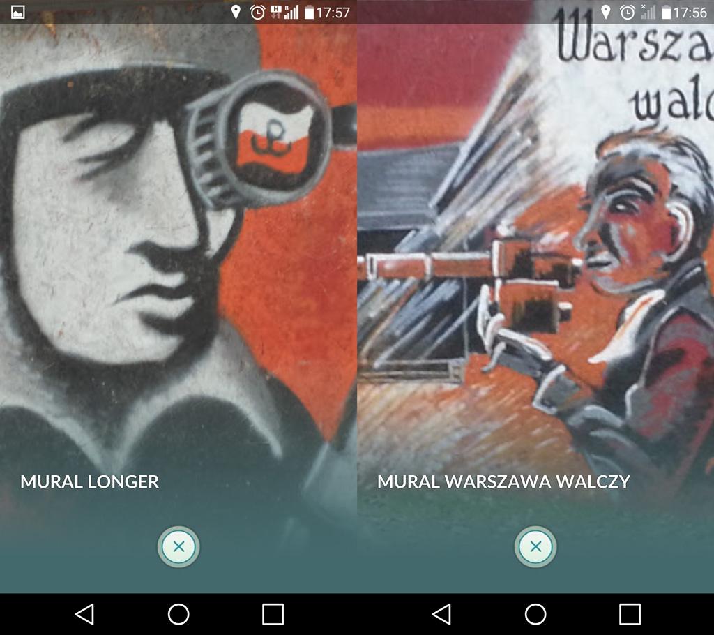 Nie istniejący już mural oPowstaniu Warszawskim przy ulicy Karolkowej