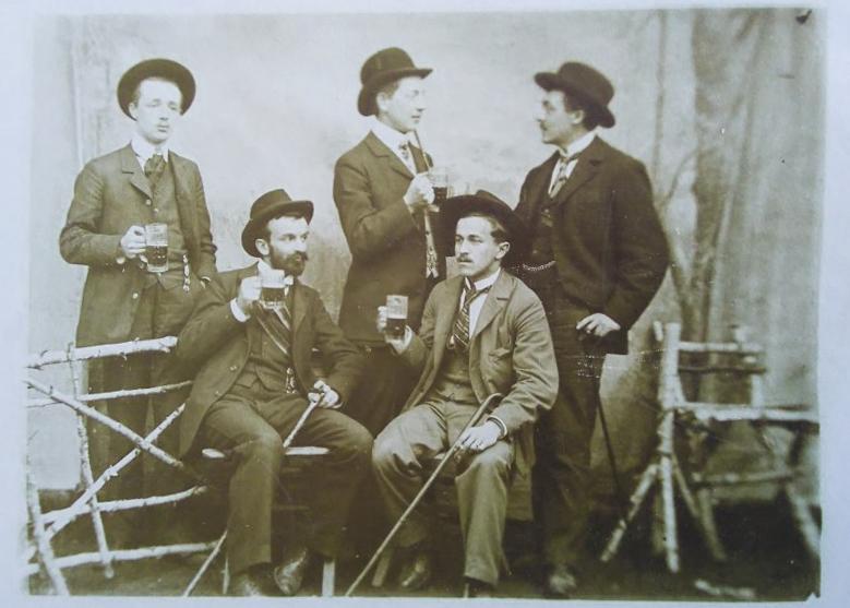 Studenci wKrólewcu, około 1900 rok. zbiory BG PAN. Źródło: zbiory PAN Biblioteki Gdańskiej