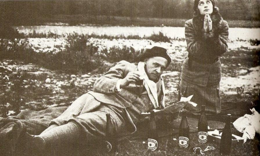 Witkacy, Nena Stachurska orazPiwa Marcowe Okocimskie, 1931 rok. Źródło: www.witkacy.pl