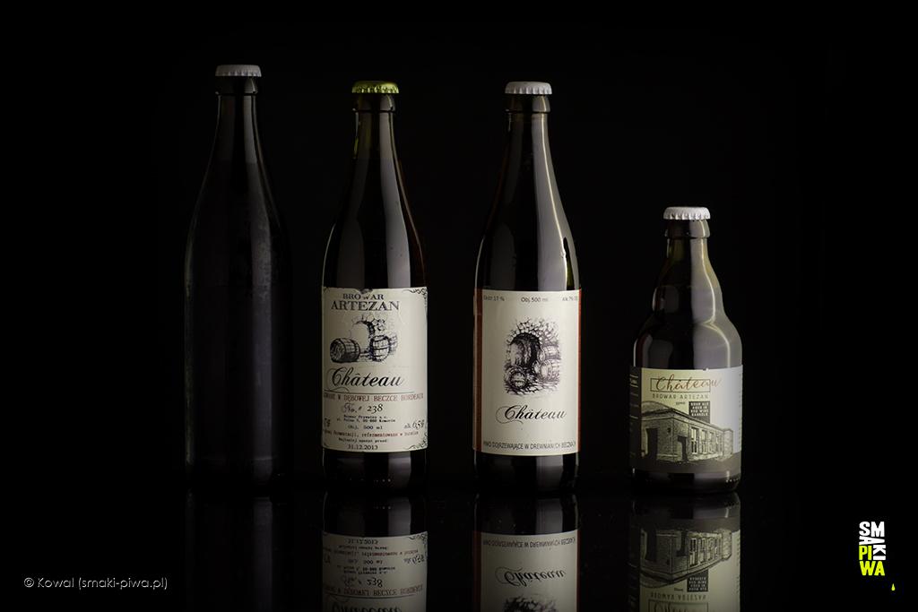 Château. Odlewej domowy prototyp Jacka Materskiego, pierwsza edycja wnumerowanych butelkach zmarca 2013 roku, edycja druga zgrudnia 2013 roku orazostatnio wydana, trzecia wersja tego piwa zmarca 2017 roku.
