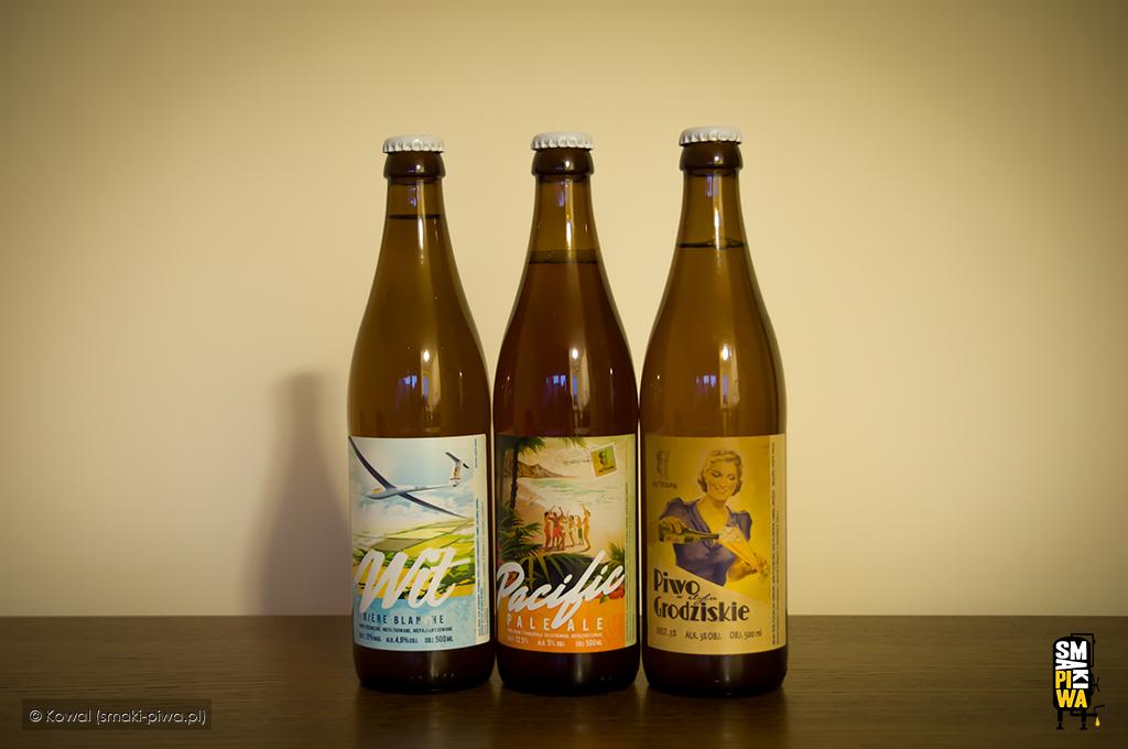 Niegdyś bardzo rzadki widok czyli piwa zbrowaru Artezan wbutelkach, awsród nich słynny Pacyfic.