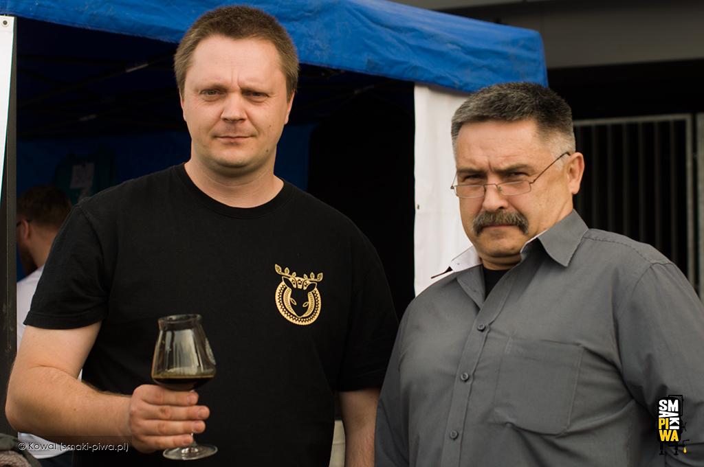 Tomek iMarek naWrocławskim Festiwalu Dobrego Piwa wmaju 2014 roku