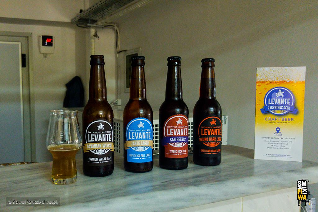 Piwa zbrowaru Levante Zakynthos Beer. Wszkle bawarska pszenica.