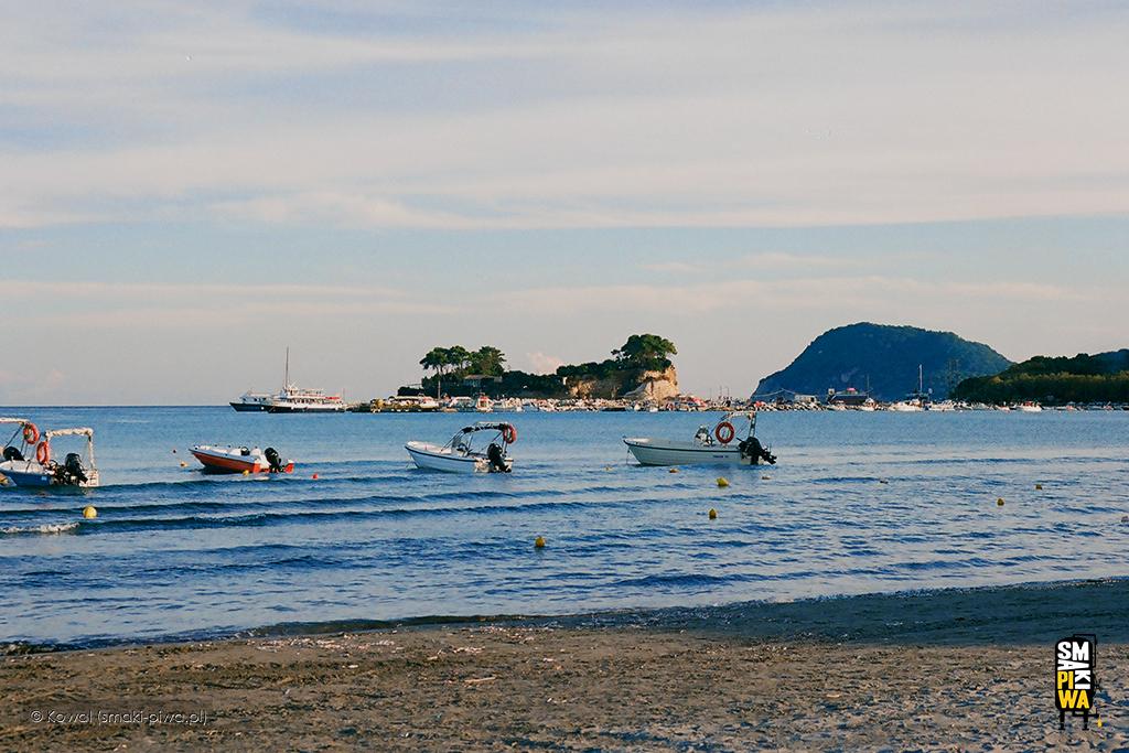 Plaża wLaganas. Fotografia analogowa