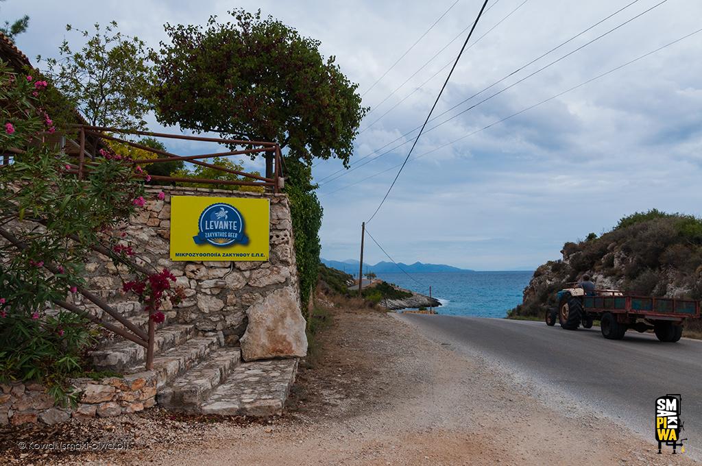 Levante Zakynthos Beer idroga łącząca plażę Xigia zBłękitnymi Grotami