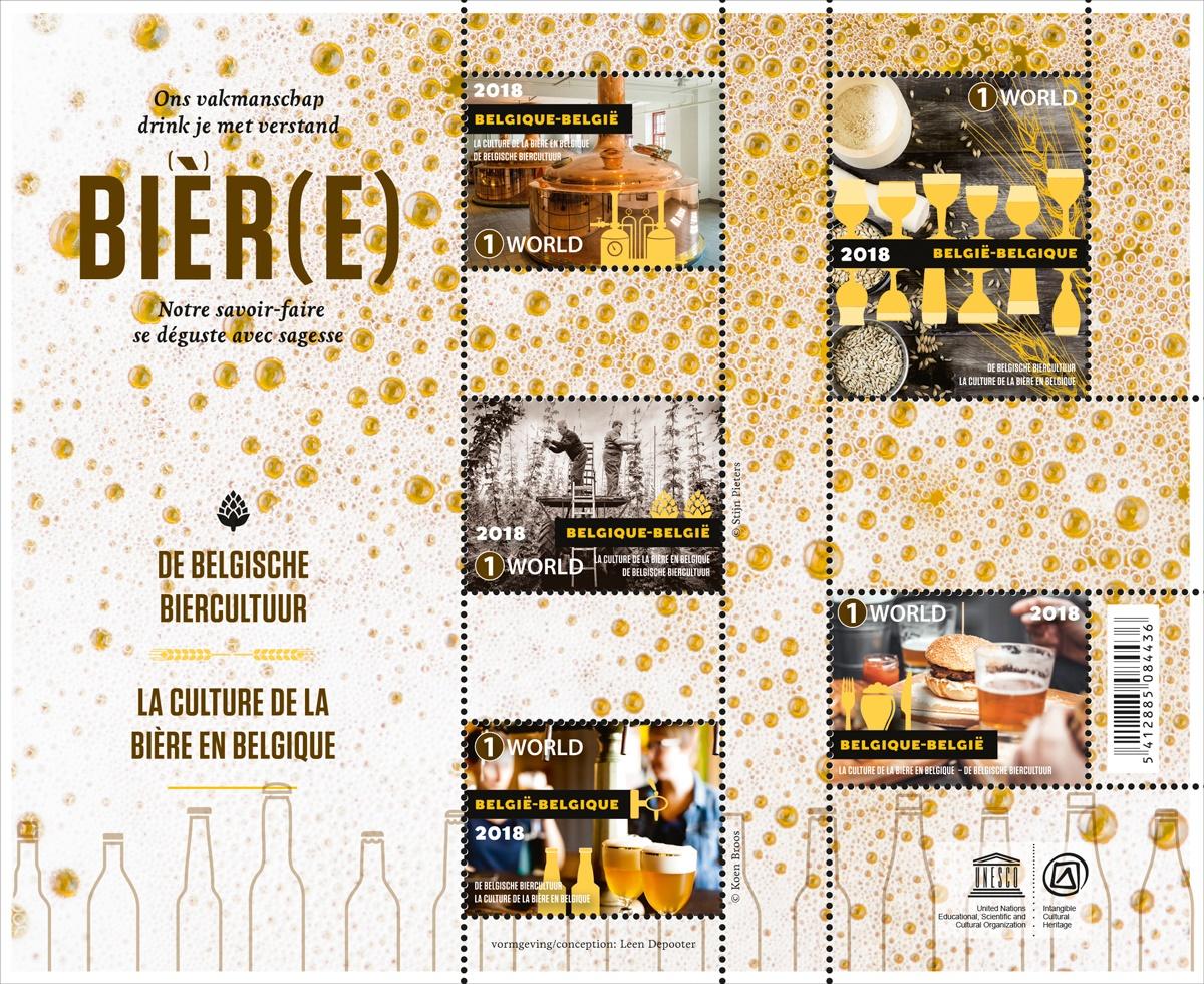 Belgijska kultura piwna. Belgia 2018. (źródło: bpost.be)