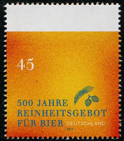 500 lecie Reinheitsgebot. Niemcy 2016. (źródło: stampcommunity.org)