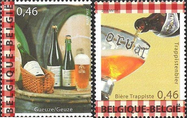 This is Belgium. Geuze. Trappistenbier. Belgia, 2014. (źródło: colnect.net)