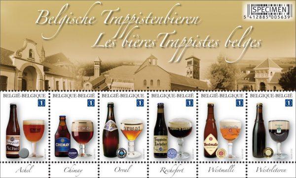 Belgijskie piwa trapisów. Belgia 2012. (źródło: colnect.net)