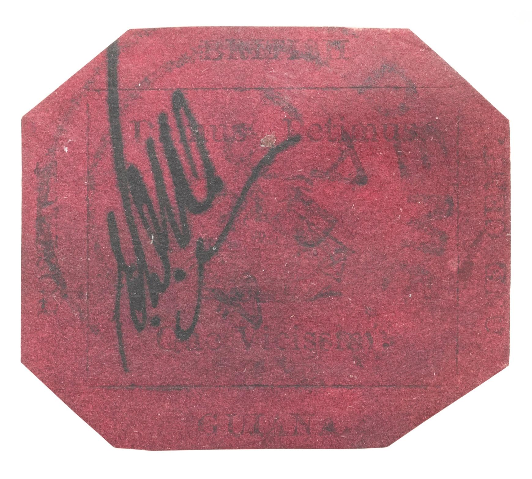 British Guiana 1c magenta z1856 roku