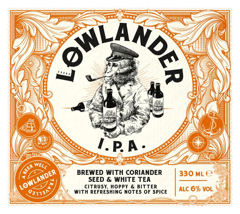Etykieta piwa Lowlander IPA (źródło: lowlander-beer.com)