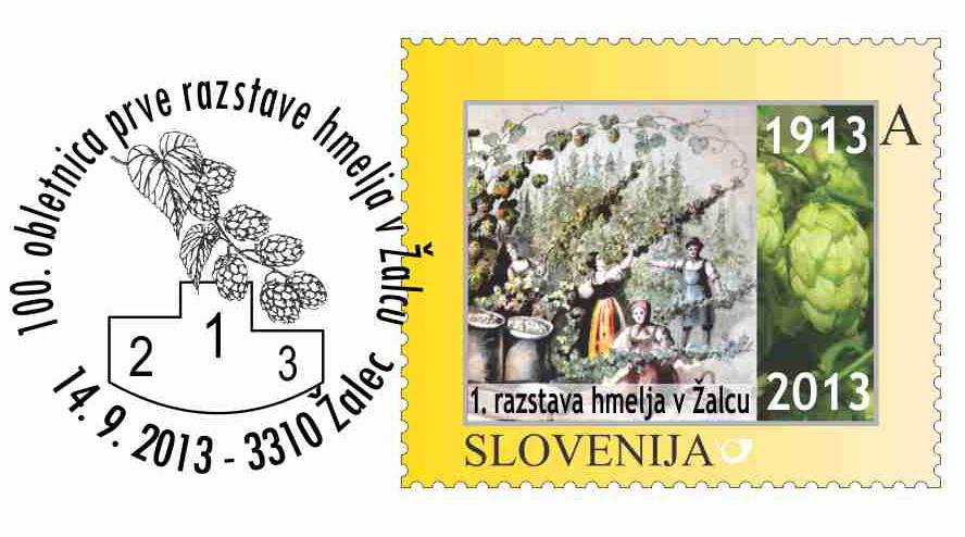 100 roznica pierwszej wystawy chmielu wŽalcu. Słowenia, 2013. (źródło: fd-zalec.org)