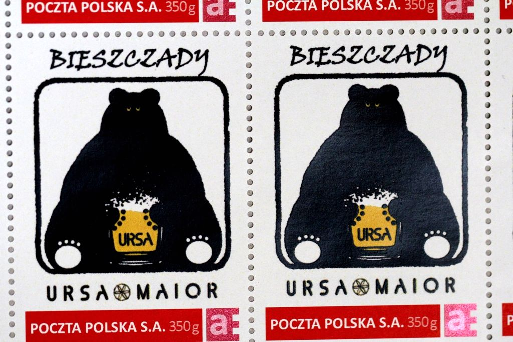 Znaczek pocztowy - Bieszczady - Urasa Major (źródło: bieszczady.name)