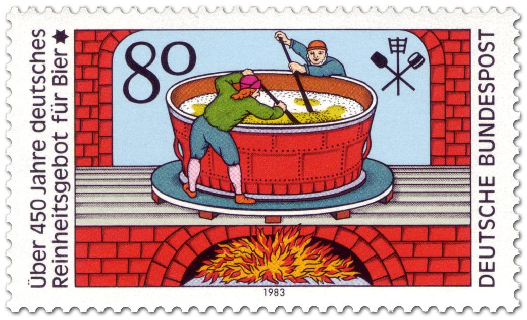 Ponad 450 lat Reinheitsgebot. Niemcy 2016. (źródło: briefmarken-bilder.de)